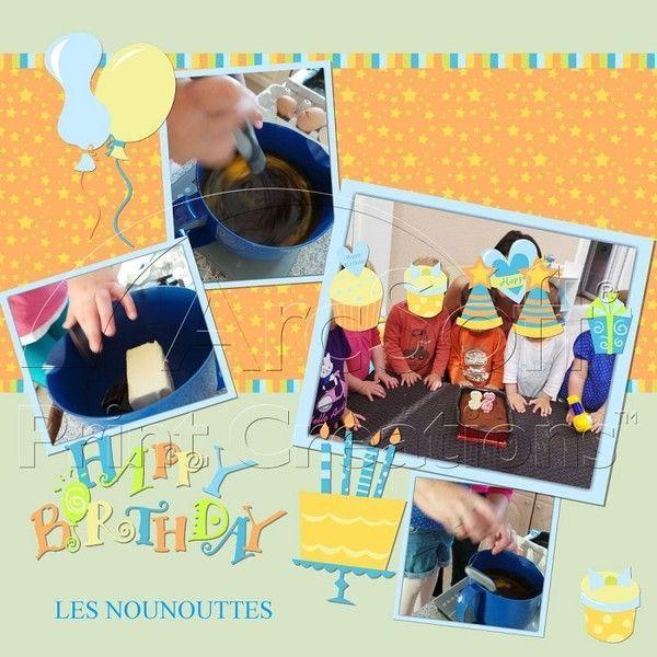 Cuisine  anniversaires de 2 petits et d'une nounoutte !!!